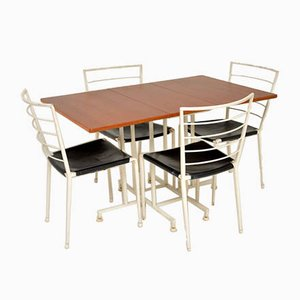Teak Dining Table & Chairs Set from Ladderax, 1960s, Set of 5