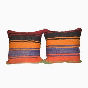 Handgefertigte türkische Kilim Kissenbezüge von Vintage Pillow Store Contemporary, 2er Set