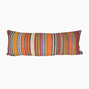 Funda de almohada turca Long Kilim Oblong de Vintage Pillow Store Contemporary