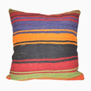 Striped Wool Kilim Pillow Cover from Vintage Pillow Store Contemporary