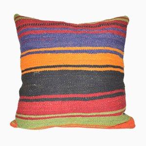 Tapis Kilim Pillow en Laine Rayée de Vintage Pillow Store Contemporary