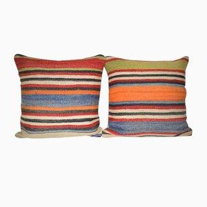 Weiße Gedämpfte Kissenbezüge von Vintage Pillow Store Contemporary, 2er Set
