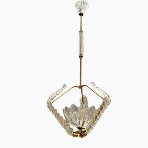 Art Deco Murano Glass Light Pendant by Ercole Barovier