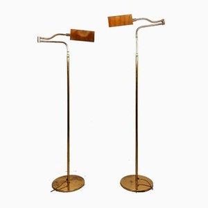 Messing Stehlampe von Florian Schulz, 1970er