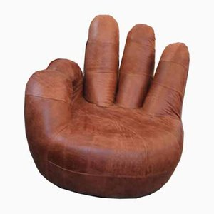 Silla Finger de cuero, años 60