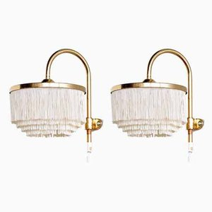 Model V271 Brass Sconces by Hans-Agne Jakobsson for Hans-Agne Jakobsson AB Markaryd, 1960s, Set of 2