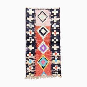 Berber Marokkanischer Boucherouite Teppich, 1990er