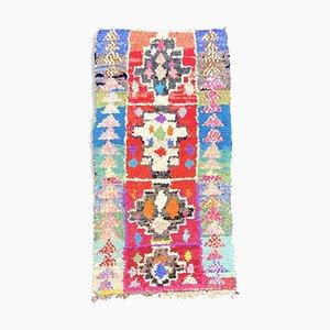 Mehrfarbiger Marokkanischer Boucherouite Teppich, 1990er