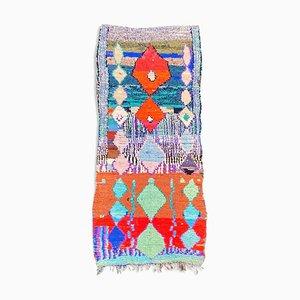 Marokkanischer Boucherouite Teppich, 1990er