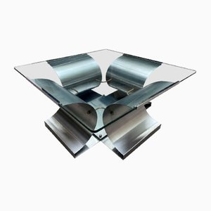 Vintage Coffee Table by Francois Monnet for Kappa, 1970s