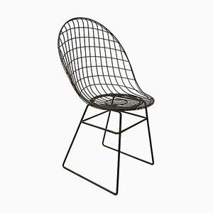 Esszimmerstuhl aus schwarzem Metalldraht, 1960er