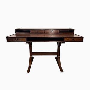 Palisander Schreibtisch von Gianfranco Frattini für Bernini, 1950er