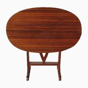 Mahogany Oval Side Table, 1970s