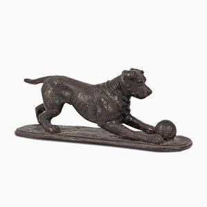 Vintage English Bronze Dog Figure after PJ Mene