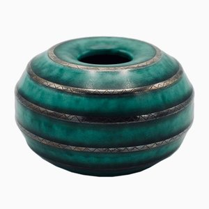 Vintage Stoneware Argenta Vase by Wilhelm Kåge for Gustavsberg