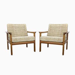 Teak Lounge Chairs by Sven Ellekaer for Komfort, 1960s, Set of 2