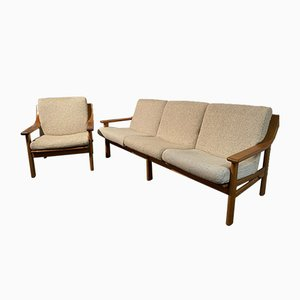 Mid-Century Teak Sofa & Chair by Johannes Andersen for CFC Silkeborg, Set of 2