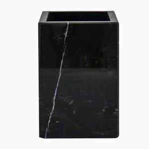 Quadratische schwarze Marquina Marmor Zahnbürste von Fiammettav Home Collection