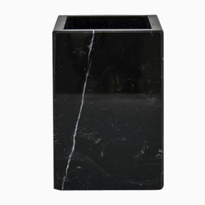 Squared Black Marquina Marble Toothbrush Holder from Fiammettav Home Collection