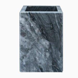 Quadratische Zahnbürstengarnitur aus grauem Bardiglio Marmor von Fiammettav Home Collection
