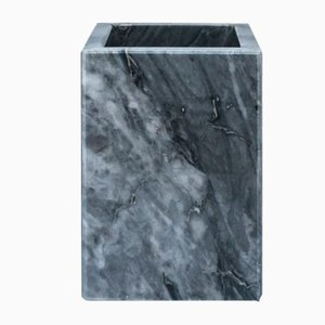Squared Grey Bardiglio Marble Toothbrush Holder from Fiammettav Home Collection
