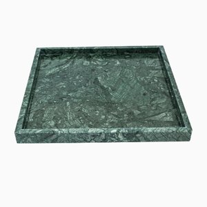 Squared Green Guatemala Marble Tray from Fiammettav Home Collection