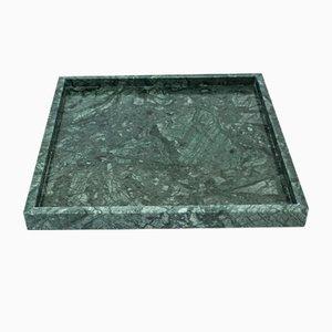 Vassoio Guatemala quadrato verde in marmo di Fiammettav Home Collection