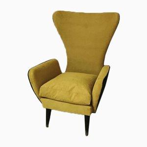 Mustard and Black Chair by Emilia Sala e Giorgio Madini, Italy, 1950s