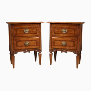Louis XVI Style Wooden Bedside Tables, 1960s, Set of 2