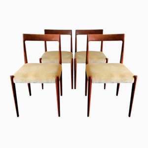 Mid-Century Danish Mohair Covered Dining Chairs, 1960s, Set of 4