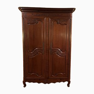 Louis XV French Oak Wardrobe, 18th-Century
