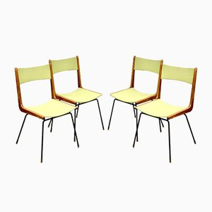 Italian Boomerang Dining Chairs by Carlo de Carli, 1960s, Set of 4
