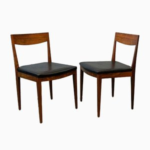 Mid-Century Rosewood Dining Chairs, Denmark, Set of 2