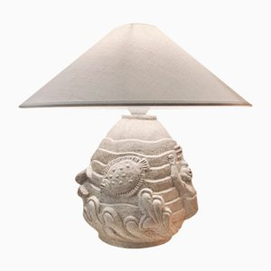 Lampada da tavolo Poseidon Mid-Century scultorea in ceramica di Erling Valldeby, Svezia
