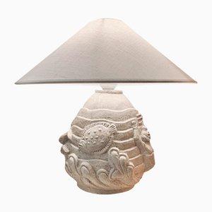 Skulpturale Mid-Century Keramik Poseidon Tischlampe von Erling Valldevon, Schweden