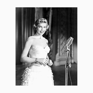 Glamorous Doris Day Archival Pigment Print Framed in White by Everett Collection