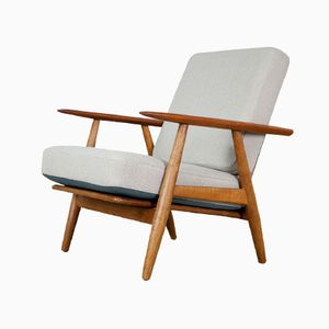 Cigar Armchair with Reversible Cushions by Hans J. Wegner for Getama, 1950s
