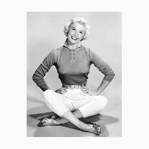 Doris Day Archival Pigment Print Framed in White by Everett Collection