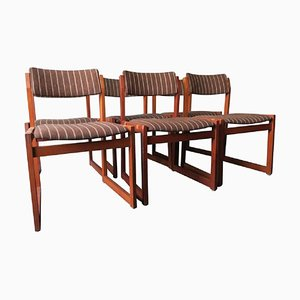 Mid-Century Danish Teak Dining Chairs with Leather Slung Seats, Set of 6