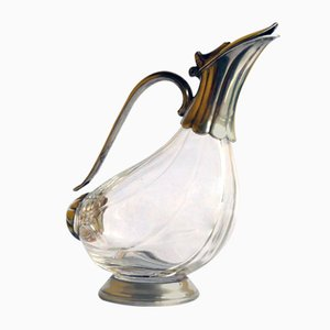 Sheffield and Crystal Liquor Bottle, 1930s