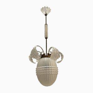 Lámpara colgante Deco de cristal de Murano