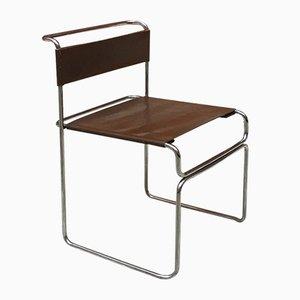 Italienischer Verchromter Steel & Leder Libellula Stuhl von Giovanni Carini für Planula, 1970er