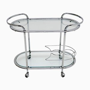 Vintage French Chrome Drinks Trolley, 1960s