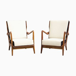 Model 516 Armchairs by Gio Ponti for Cassina, 1950s, Set of 2