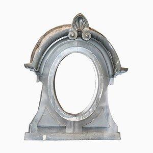 Antique French Zinc Mirror