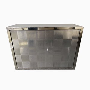 French Stainless Steel Buffet by Françoise See, 1970s