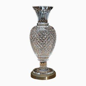 Brass & Crystal Vase, 1930s