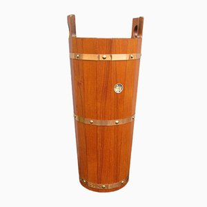 Vintage Teak Umbrella Stand from J. H. Sävjö