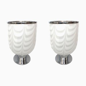 Italienische Tischlampen von Mazzega, 1970er, 2er Set