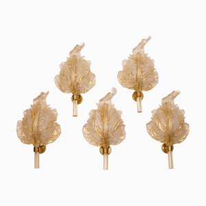 Mid-Century Murano Glass Sconces from Barovier & Toso, Set of 5